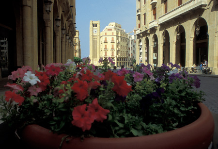 beirut: the old town of the city of Beirut in Lebanon in the middle east. Editorial