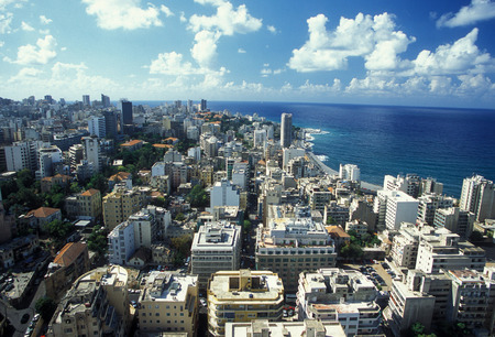 the old town of the city of Beirut in Lebanon in the middle east. Editorial