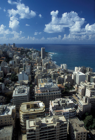 altstadt: the old town of the city of Beirut in Lebanon in the middle east. Editorial