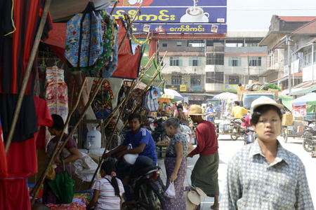 municipal: the municipal market in the city of Myeik in the south in Myanmar in Southeastasia. Editorial