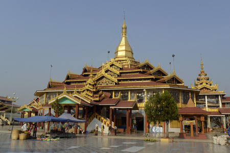 daw: the temple at the Village of Phaung Daw Oo at the Inle Lake in the Shan State in the east of Myanmar in Southeastasia.