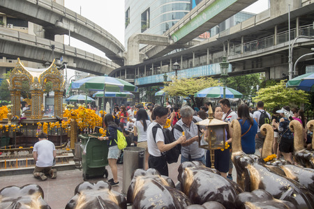 down town: The Erewan Shrine in near the Siam Square in Down Town of Bangkok in Tahiland.