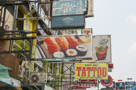 The Khao San Road in Banglaphu in the city of Bangkok in Thailand in Southeastasia.