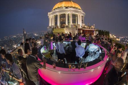 aerea: the Sky Bar at the Riverside Aerea in the city of Bangkok in Thailand in Southeastasia.