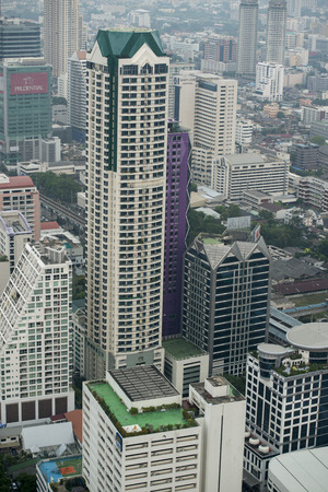 The Skyline view from the Sky Bar at the Riverside Aerea in the city of Bangkok in Thailand in Southeastasia.
