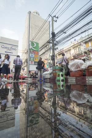 the city life at the charoen Krung road at the Riverside Aerea in the city of Bangkok in Thailand in Southeastasia.