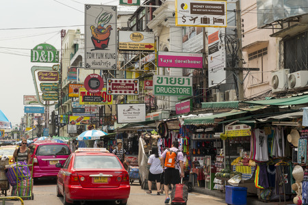辻タイのバンコク市内で Banglaphu でカオサン通り。