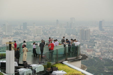 aerea: the Sky Bar at the Riverside Aerea in the city of Bangkok in Thailand in Southeastasia.