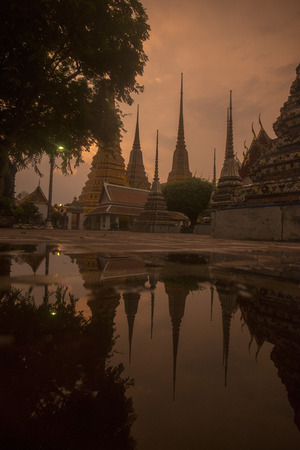 wat pho: The Temple of Wat Pho in Banglaphu in the City of Bangkok in Thailand in Southeastasia.