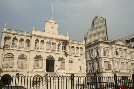 aerea: the colonial architection at the Oriental Ferry station at the Riverside Aerea in the city of Bangkok in Thailand in Southeastasia.
