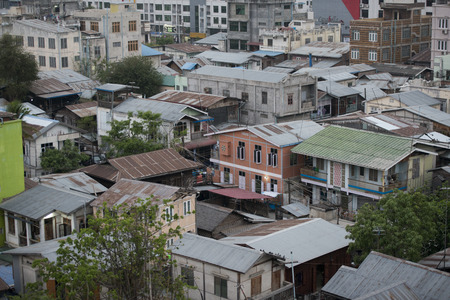 city centre: the view of the city centre of the City of Mandalay in Myanmar in Southeastasia. Stock Photo