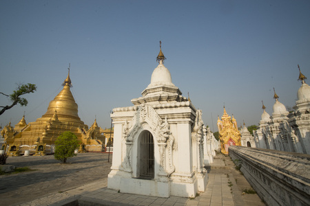 world record: the Kuthodaw Paya in the City of Mandalay in Myanmar in Southeastasia.