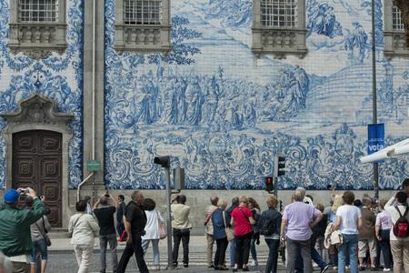 the church Igreja do carmo d dos carmelitas in the old town of  ribeira in the city centre of Porto in Porugal in Europe.