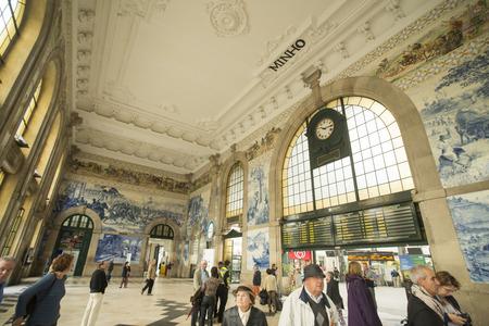bento: the train station San Bento in the city centre of Porto in Porugal in Europe.