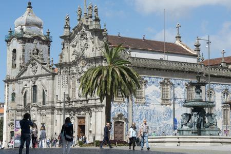 carmo: the church Igreja do carmo d dos carmelitas in the old town of  ribeira in the city centre of Porto in Porugal in Europe.