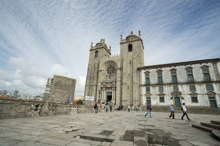 ribeira: the cathedral se in ribeira in the city centre of Porto in Porugal in Europe.