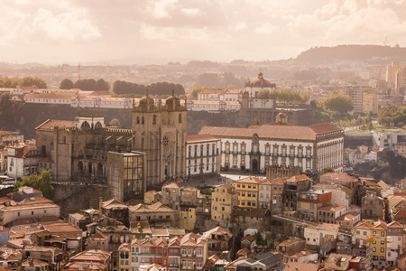 se: the cathedral se in ribeira in the city centre of Porto in Portugal in Europe.