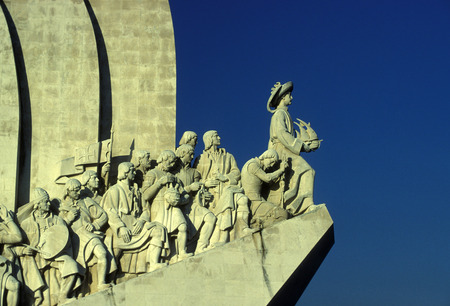 belem: the padrao dos Descobrimentos in Belem in the city of Lisbon in Portugal in Europe. Editorial