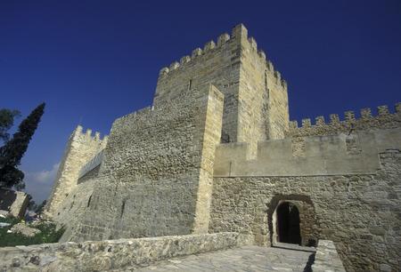 baixa: the castelo sao Gorge in the city centre of Baixa in the city centre of Lisbon in Portugal in Europe.