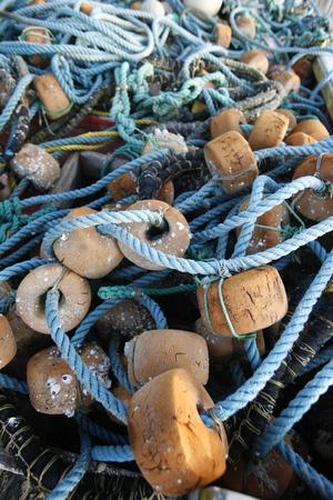 fishingnet: fishing net at the Coast at the beach in the town of Manzanillo on the Isla Margarita in the caribbean sea of Venezuela.