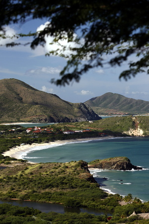 isla: the Coast with the beach Playa Pedro Gonzalez in the town of Pedro Gonzalaz on the Isla Margarita in the caribbean sea of Venezuela.