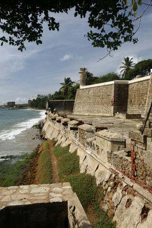 borromeo: the castillo de San Carlos Borromeo in the town of Pampatar on the Isla Margarita in the caribbean sea of Venezuela.