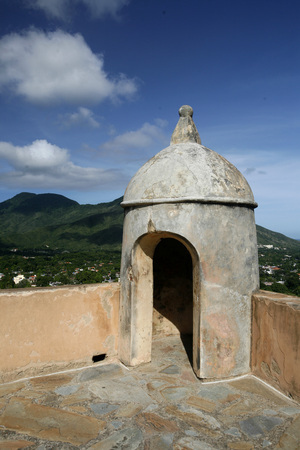 isla: the Castillo Santa Cruz in the town of La Asuncion on the Isla Margarita in the caribbean sea of Venezuela.