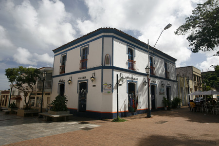 isla: the town of La Asuncion on the Isla Margarita in the caribbean sea of Venezuela.