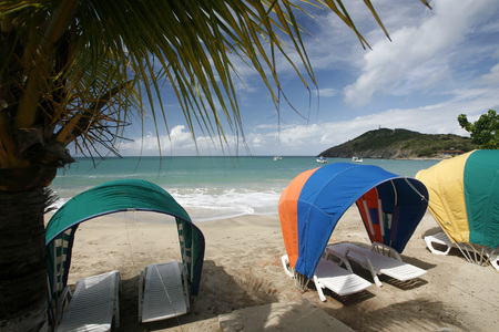 southamerica: the beach Playa Pedro Gonzalez in the town of Pedro Gonzalaz on the Isla Margarita in the caribbean sea of Venezuela. Editorial