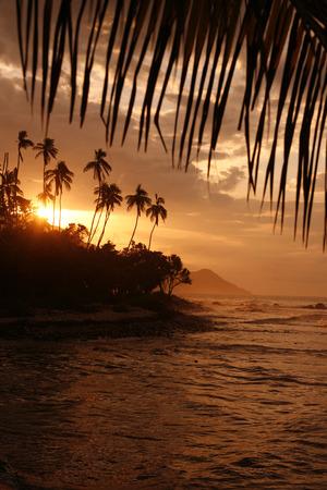 southamerica: a beach at the village of choroni on the caribbean coast in Venezuela.