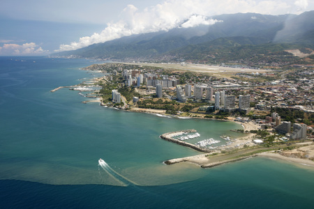 southamerica: the cityscape at the Caracas Airport at the coast of Caracas in the north of Venezuela. Stock Photo