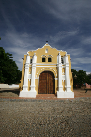 colonial church: a colonial church in the town of Coro in the west of Venezuela.