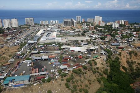 caracas: the cityscape at the Caracas Airport at the coast of Caracas in the north of Venezuela. Editorial