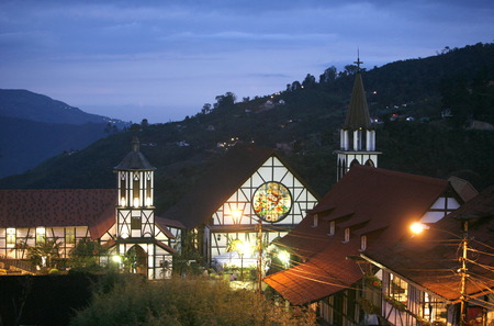 southamerica: a traditional Black Forest House of the German Colony in the Mountain Village of Colonia Tovar in the north of Venezuela. Editorial