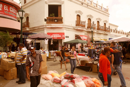 street life in the town of Maracaibo in the west of Venezuela.