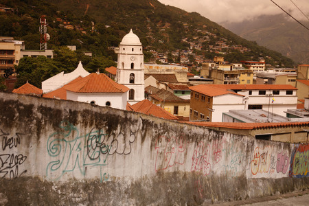 southamerica: the catedral in the old town of the mountain village of Trujillo in the west of Venezuela.