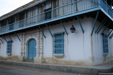 southamerica: a colonial house in the town of Coro in the west of Venezuela.
