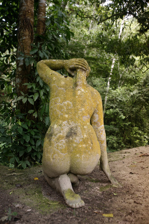 southamerica: art in a garden in the town of choroni near choroni on the caribbean coast in Venezuela.