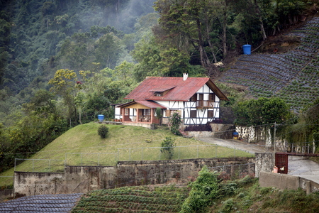 a traditional Black Forest House of the German Colony in the Mountain Village of Colonia Tovar in the north of Venezuela. Editorial