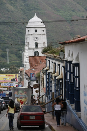 southamerica: the old town of the mountain village of Trujillo in the west of Venezuela. Editorial