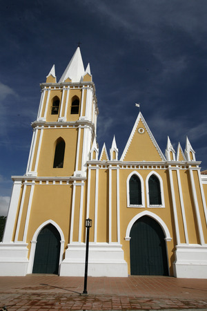 southamerica: a colonial church in the town of Coro in the west of Venezuela.