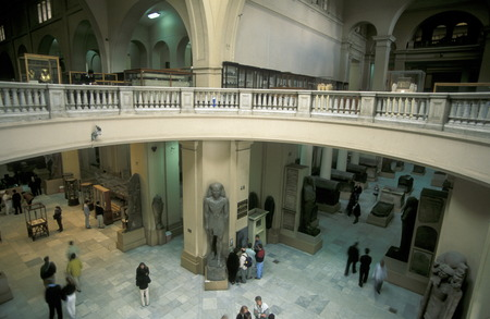 north africa: the Egyptian Museum in the old town of Cairo the capital of Egypt in north africa