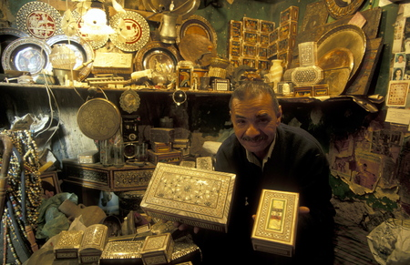 north africa: the souq or market in the old town of Cairo the capital of Egypt in north africa