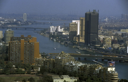 north africa: the city of the Cairo the capital of Egypt in north africa Editorial