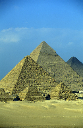 north africa: the pyramids pf giza near the city of Cairo the capital of Egypt in north africa