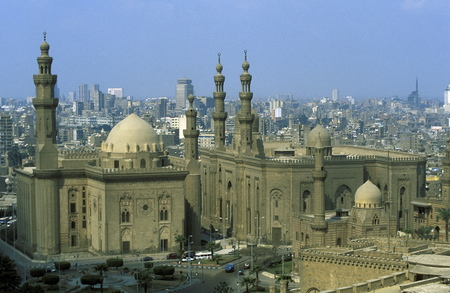 north africa: the Sultan Hassan Mosque in the old town of Cairo the capital of Egypt in north africa Editorial