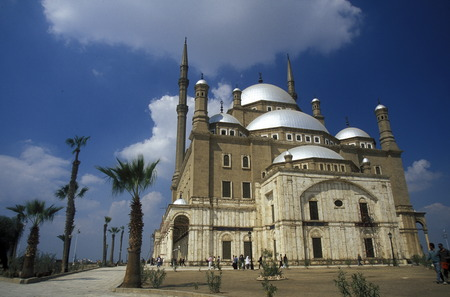 ali: the Mohammed Ali Mosque in the old town of Cairo the capital of Egypt in north africa