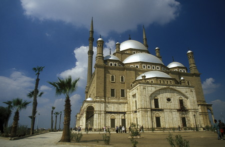 mohammed: the Mohammed Ali Mosque in the old town of Cairo the capital of Egypt in north africa