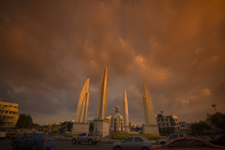 democracy Monument: the Democracy Monument in Banglamphu in the city of Bangkok in Thailand in Southeastasia. Editorial