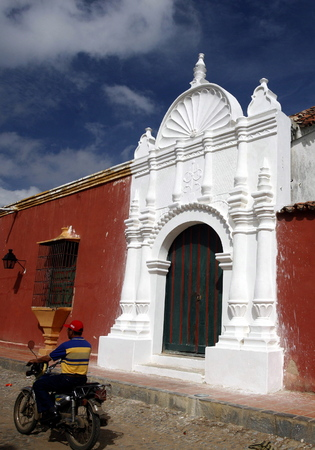 colonial house: a colonial house in the town of Coro in the west of Venezuela.